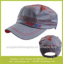 Custom 100% cotton high quality kids cap kids military hat