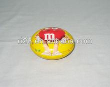 Pill shaped tin box
