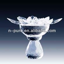 Clear Blank Flower Crystal Model