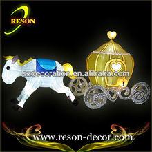 L: 180cmilluminazione natalizia decorazione tessuto carrozza di cenerentola
