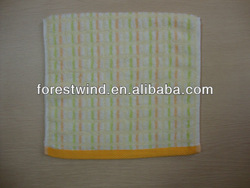 Yarn dyed organic cotton face towel