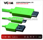 5 to 11 Pin Converter 1.2M Green Micro USB to HDMI MHL Cable