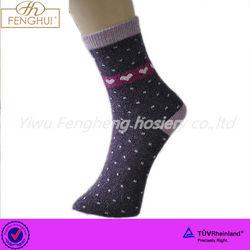 Yiwu fengheng women jacquard stripe wool socks 2015 hot sall