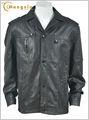 Tintura do vestuário do plutônio jaqueta de couro, grande tamanho mens revestimentos, pu material de revestimento