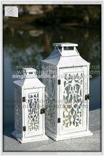Hechos a mano decoración de la boda linterna de madera para velas tenedores madera vela