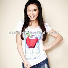 simple fashion design t shirt for girls