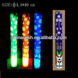 4.5*40cm led foam flashing light stick for halloween with pumpkin logo shenzhen factory