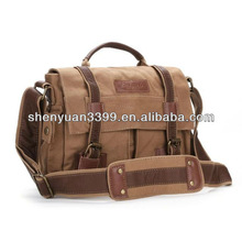China Supplier Wholesale European Style Exquisite Leisure DSLR Camera Bag for Men,Canvas Camera Bag with Strip
