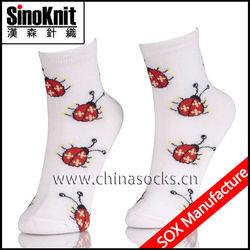 Summer Jacquard School Transparent Socks for Women