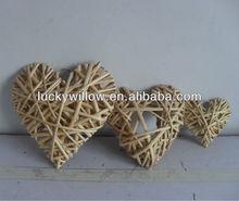 2013 wicker hanging heart for home&garden decration/Christmas craft