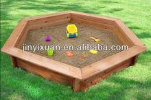Wooden Sandpit with PE cover / sandpit wholesale / children Sand Pit