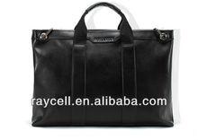 High quality handmade cow leather fashion men designer handbags at factory price
