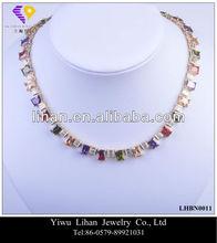 Multi Color Stone Fashion Necklaces 2014 Necklaces Jewelry