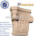 Casa antigua decorativo tallado a mano de madera de capital( efs- wp- 01)