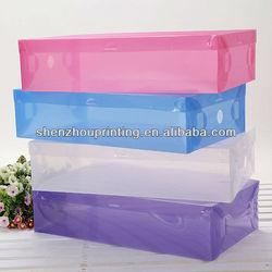 PP transparent shoe box / pp plastic case (with different sizes)