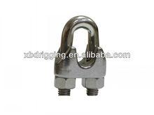Fundido de alta calidad de acero inoxidable din741 cuerda de alambre clips de cable abrazaderas/sujetadores cuerda de alambre clips