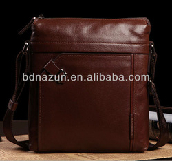 new style fashion men genuine leather messenger bags