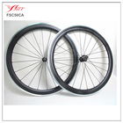 NEW U shape Farsports 50mm clincher alloy carbon wheels with Novatec+Sapim spokes, alloy carbon clincher wheels