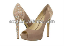 Sexy embellished ,open toe,crystal,diamond,evening shoes for women