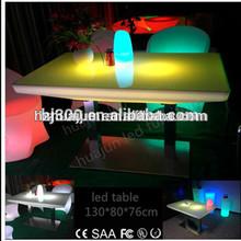 LED restaurant table/ktv table with light/illuminated furniture