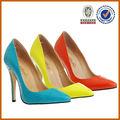 50 pares mezclar 2 colores !! último alto talón atractivo 2014/2015 mujeres OEM zapatos de vestido dama zapatos de cuero de moda