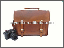 2013 new products vintage Leather camera bag manufacture from Alibaba China