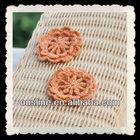 handmade retro color crochet flower patterns,pin wheels crochet coasters