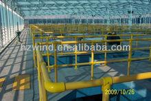 Chemical resistant fiberglass handrail
