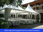 6x6m pagoda tents for celebration dinners in garden