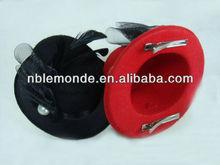 women decorative feather bowler mini top hats crafts
