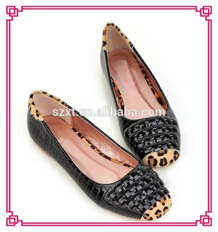 latest rhinestone women closed toe sexy flat shoes