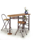 Hot sale style wooden steel-pipe Dining table sets in dining room
