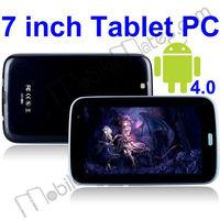 Android 4.0,Samsung Exynos4412 ARM Cortex-A9 Quad Core 1.6GHz,1G DDR3 RAM,8GB Nand Flash ROM,7 Inch Tablet PC,WiFi,3G,GPS,