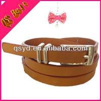 2014 Hot Sale Ladies New Design Fashion Skinny Chastity Leather Belt