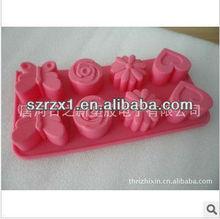 FDA standard new design diamond shape silicone ice cube tray