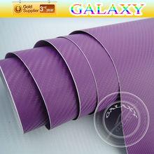 Durable new hot sale 1.52x30m purple 3d carbon fiber car vinyl sticker design with air free channel