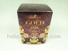2013 modern design france luxury lady parfum paper box