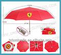 marque de la publicité logo trois parapluie pliant
