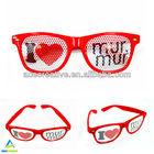 Wayfarer style custom logo printed lenses sunglasses