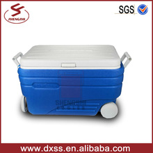 47L plastic beer cooler wheeled ice chest for outdoor