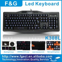Led backlight keyboard
