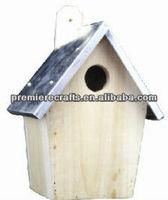 hanging metal roof wooden bird nest bird cage