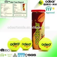 Top grade tournament tennis ball, ITF approved odear tennis ball brand