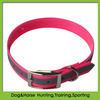Fluo Pink TPU reflective dog collar with reflective strip