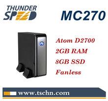 Cheap Atom Mini PC MC270 with Intel Atom D2700 Dual Core 2.13Ghz CPU 2GB RAM 8GB SSD Windows 7 Ultimate OS
