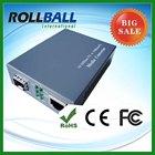 10g 1550nm 10/100m media fiber optic converter