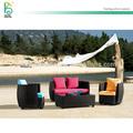 sofá de exteriores, venta caliente de muebles de jardín con marco de aluminio y junco PE