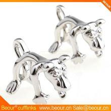Cufflinks ZB6041 - Sliver Puppy Lover Cufflinks - Cufflink Manufacturer,cuff daddy