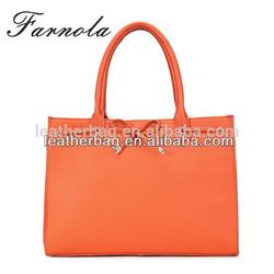 2015 custom fashion design real leather handbags women bags