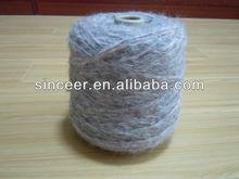 45% Acrylic 18% Yak 13%Wool12%Angora 12%Polyester Spray yarn